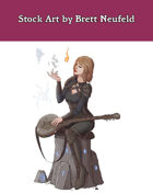 Stock Art: Female Human Kineticist