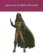 Stock Art: Male Half-Orc Assassin