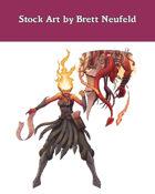 Stock Art: Female Tiefling Demon Summoner