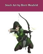 Stock Art: Female Human Archer