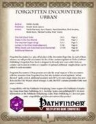 Forgotten Encounters: Urban [PFRPG]