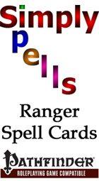 Pathfinder Ranger Spell Cards