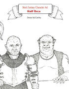 Stock Fantasy Character Art: Half-Orcs