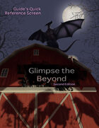 Glimpse the Beyond Second Edition Guide's Screen