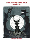 Dark Fantasy Stock Art 5: Black Cat