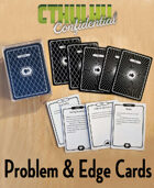 Cthulhu Confidential Problems and Edge Cards