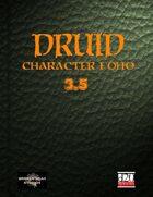 Druid Character Class Portfolio 3.5