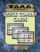 Torg Eternity: Quick Combat Cards