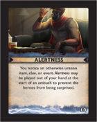 Torg Eternity - Destiny Card - Alertness 10