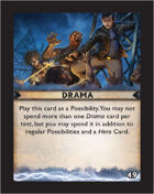 Torg Eternity - Destiny Card - Drama 49