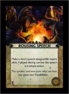 Torg Eternity - Core Earth Cosm Card - Rousing Speech