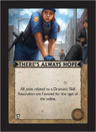 Torg Eternity - Core Earth Cosm Card - There's Always Hope