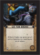 Torg Eternity - Core Earth Cosm Card - Go for Broke
