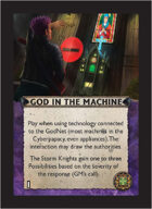 Torg Eternity - Cyberpapacy Cosm Card - God in the Machine