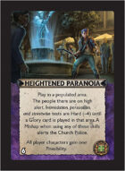 Torg Eternity - Cyberpapacy Cosm Card - Heightened Paranoia
