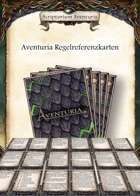Aventuria Regelreferenzkarten (Abenteuermodus)