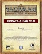 Talisman Adventures - Errata and FAQ