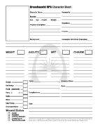 Breachworld Character Sheet