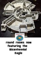 Round Space Rooms now containing the Bicentennial Eagle