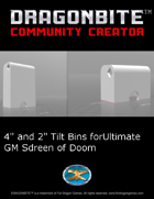 4 and 2 inch Bin with finger grab hole For ultimate GM Screen of Doom