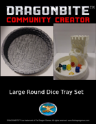 Large Round Dice Tray Set