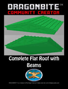 Complete Flat Roof with Beams
