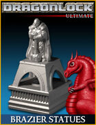 DRAGONLOCK Ultimate: Brazier Statues (LED tea light)