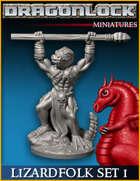 DRAGONLOCK Miniatures: Lizardfolk Warriors Set 1