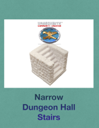 Narrow Dungeon Hall Stairs