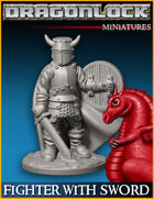 DRAGONLOCK Miniatures: Fighter with Sword