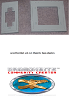 Magnetic Adaptor Bases for 1x2, 2x4 and 4x4 floors
