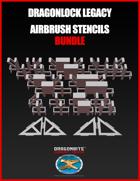 DRAGONLOCK Legacy Airbrush Stencils BUNDLE