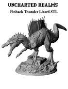 Finback Thunder Lizard (Spinosaurus) STL - 3D Printable Monster