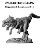 Daggertooth King Lizard STL - 3D Printable Monster