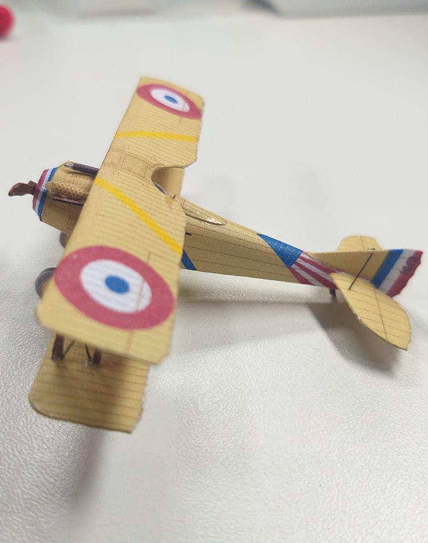 1/100 (15mm) SPAD S.VII Frank Baer paper model