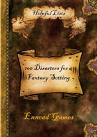 100 Disasters for a Fantasy Setting