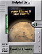 1000 Planet & Star Names