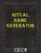 Ritual Name Generator