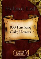 100 Fantasy Cult Names