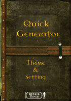 Quick Generator - Theme and Setting