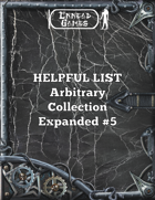 Helpful List Arbitrary Collection Expanded #5