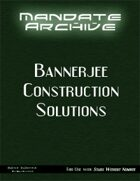 Mandate Archive: Bannerjee Construction Solutions