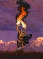Infinite Images - Stock Illustration - Elemental Fire Shaman v2 - Full Page, 4c 300ppi