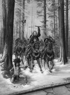 Infinite Images - Stock Illustration - Kommanza Warriors - Quarter Page, GS 300ppi