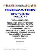 Federation Commander: Federation Ship Card Pack #1
