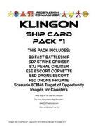 Federation Commander: Klingon Ship Card Pack #1