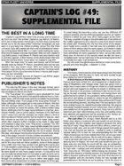 Captain's Log #49 Supplement