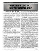 Captain's Log #42 Supplement