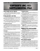 Captain's Log #52 Supplement