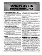 Captain's Log #44 Supplement